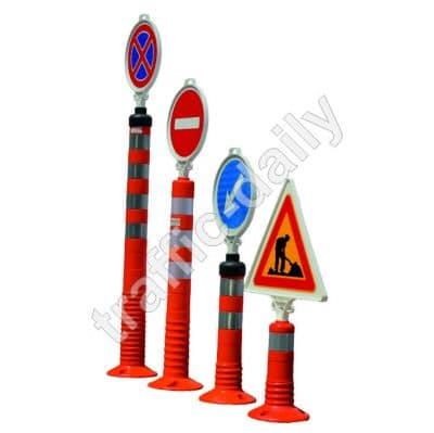 Гъвкави пътни стълбчета със знак В-27 А23 Г-9 В-1